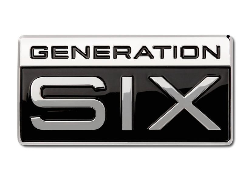 """Abbildung der """"Generation Six""""-Plakette."""