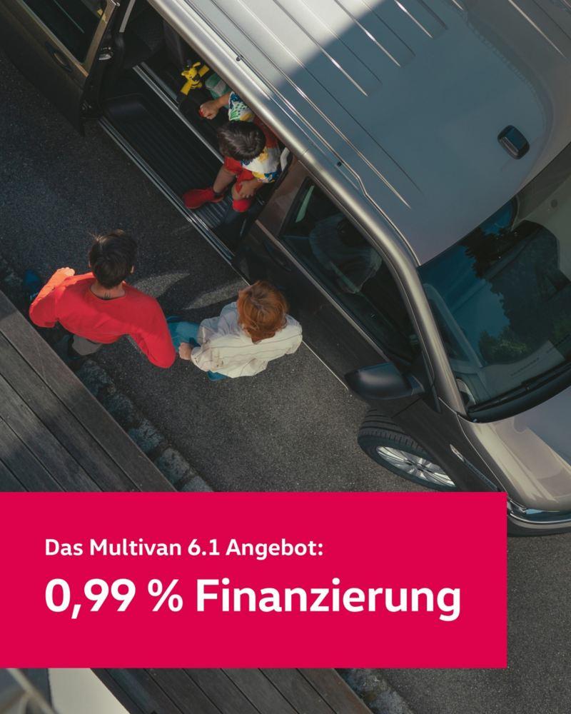 Ein Volkswagen Multivan 6.1 von oben.