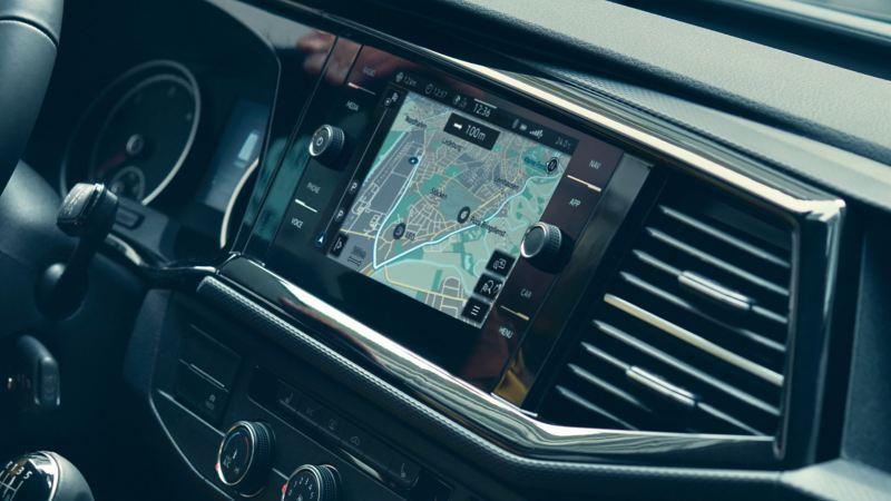 vw Volkswagen Multivan 6.1 Highline 7-seter familiebil minivan maxitaxi persontransport infotainmentsystem Navigasjon GPS We Connect radio