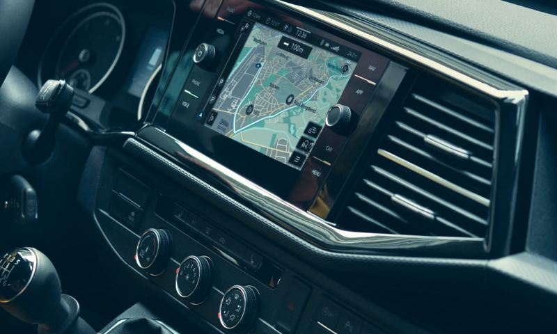 "Display of the navigation system ""Discover Media"" in a Multivan 6.1."