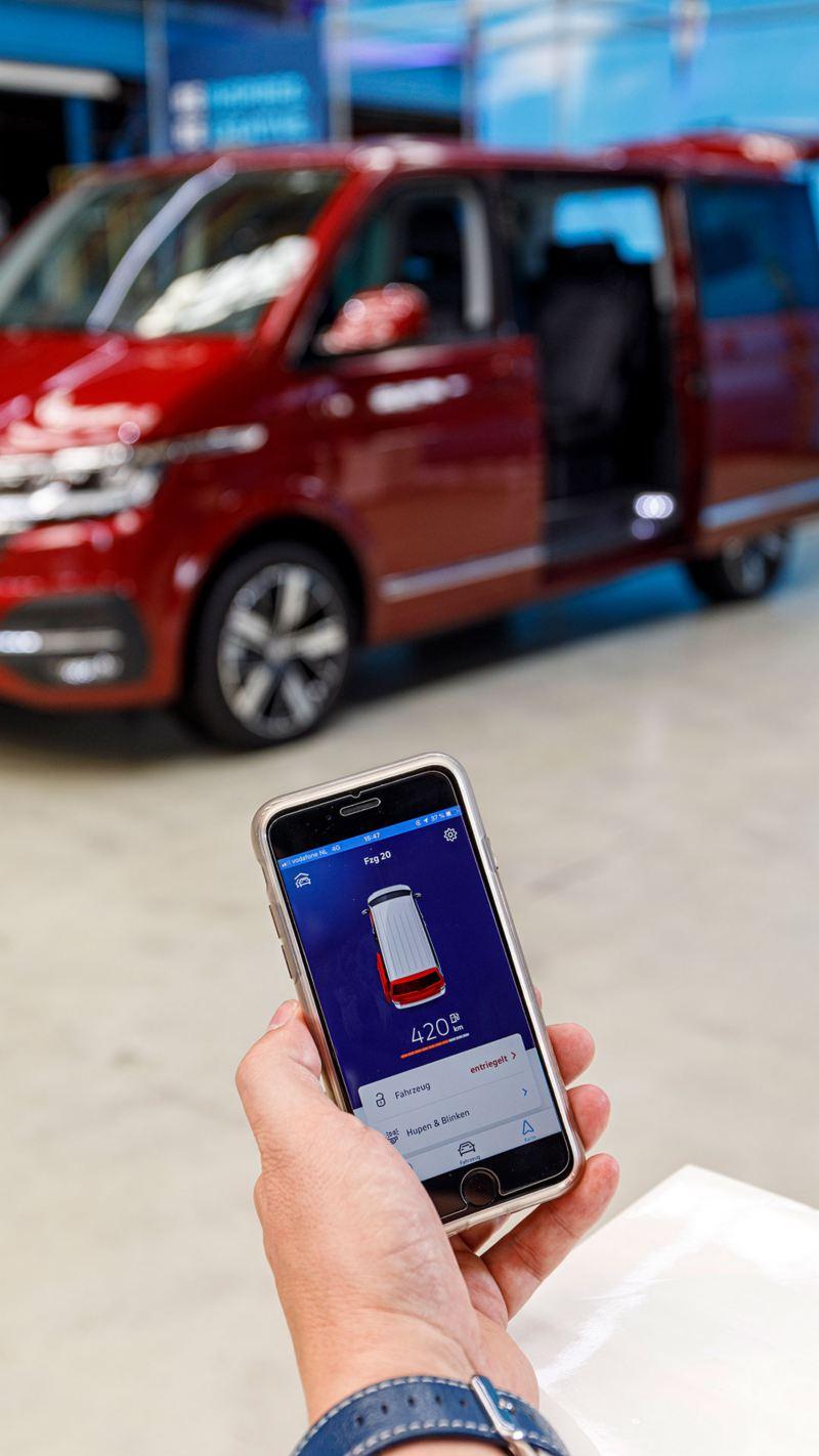 Nya VW Multivan T6.1 har appstyrning
