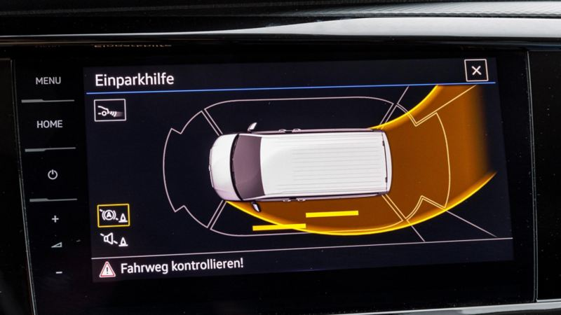 Park Assist (parkeringsassistenten) i nya Multivan T6.1