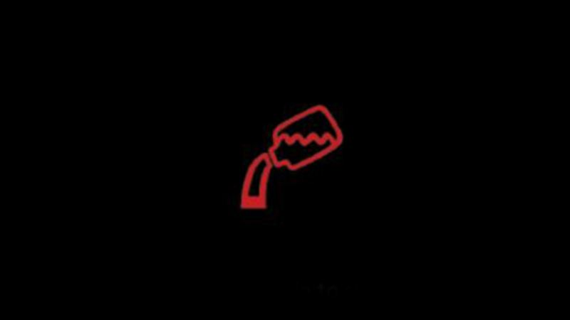 Red adblue warning light