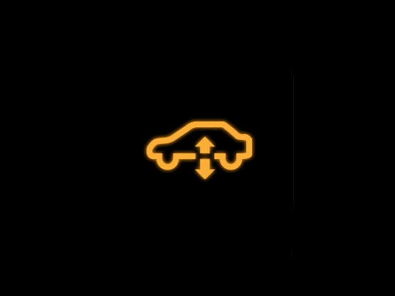 Yellow - Air suspension symbol
