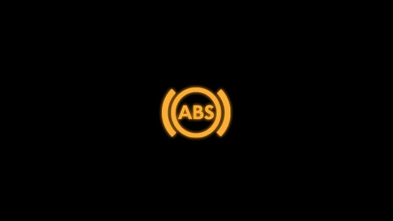 Yellow anti-lock brake system warning light