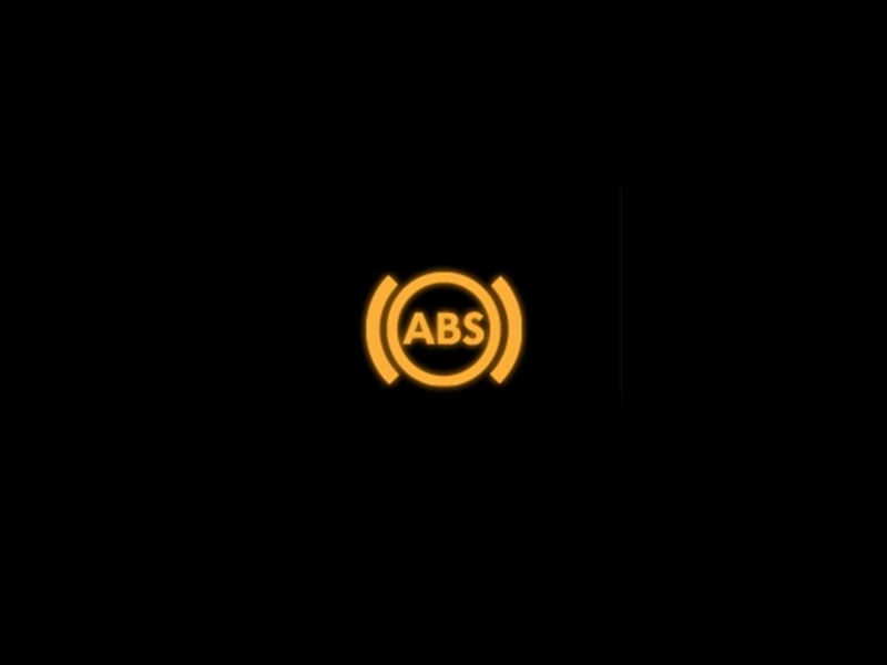 Yellow - Anti-lock Brake System symbol