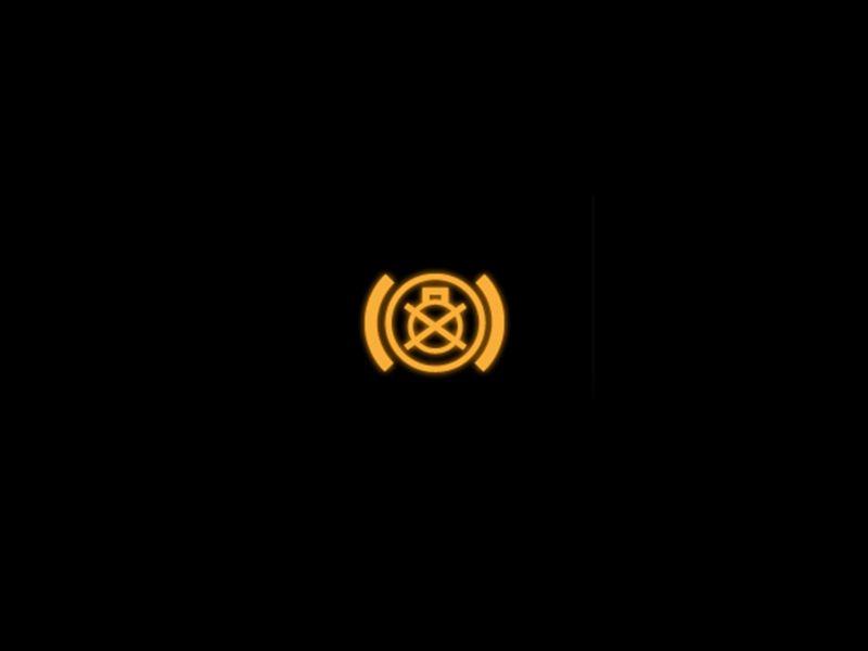 Brake lights yellow warning lamp