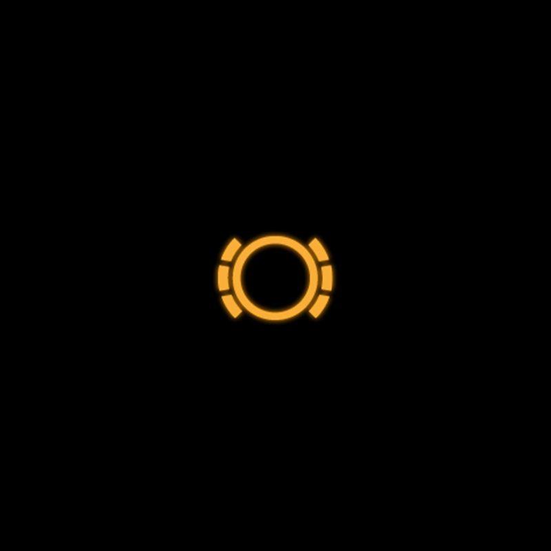 Yellow brake pad monitoring warning light