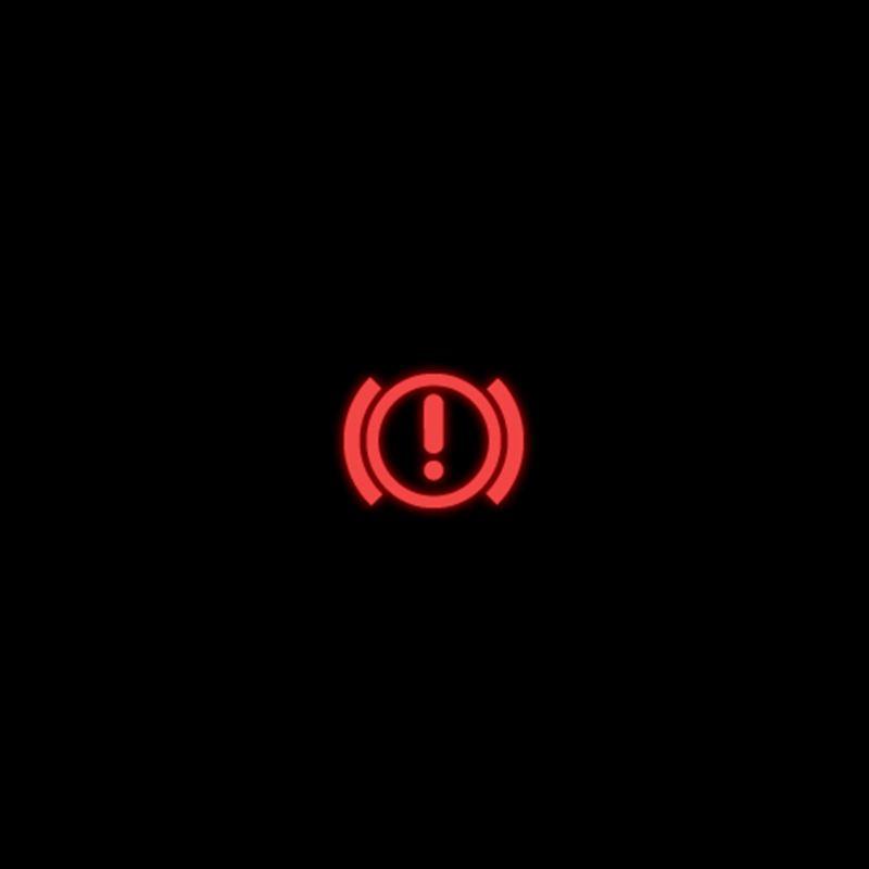 Red brake system warning light