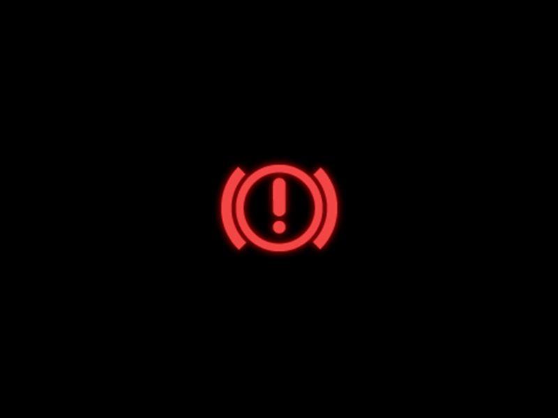 Brake system red warning light