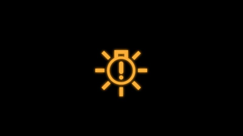 Yellow bulb monitoring warning light