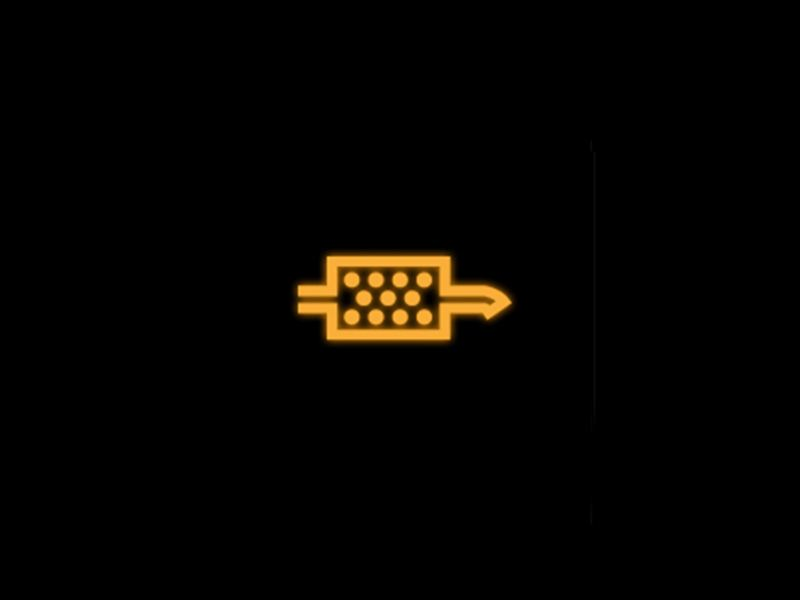 Yellow - Diesel particulate filter symbol