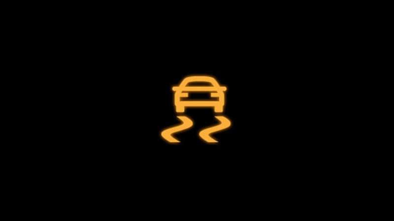 Yellow electronic stability programme warning light