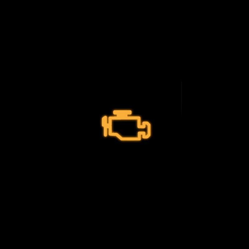 Yellow emission control/engine management lamp warning light