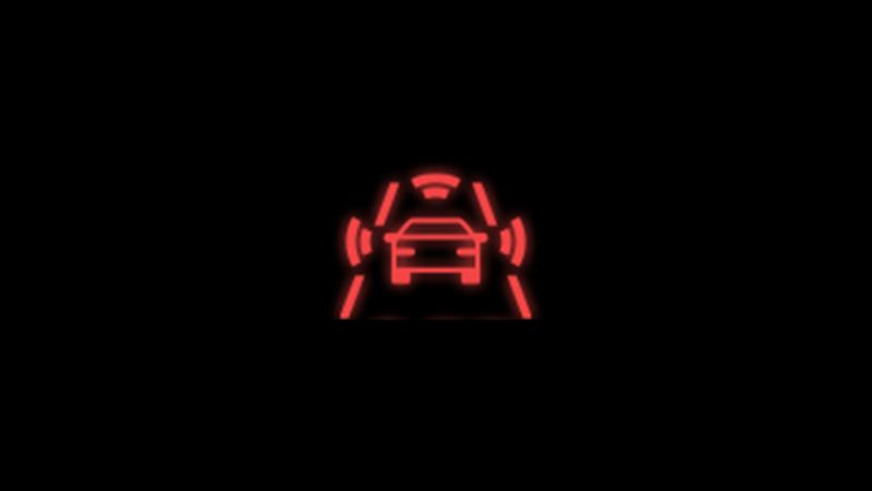 red front assist warning light