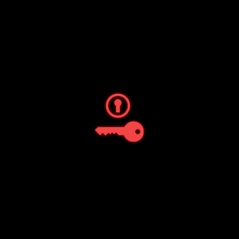 red Ignition switch warning light