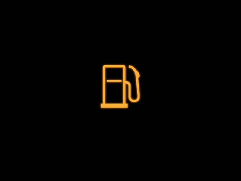 Yellow - Low fuel level symbol