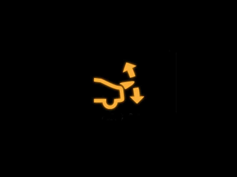 Yellow rear spoiler warning light
