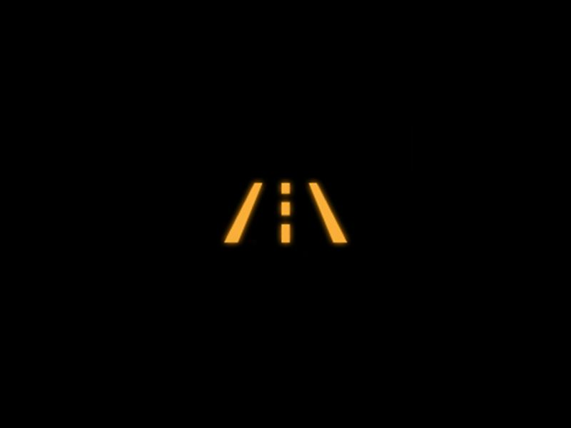 Yellow - Lane assist symbol