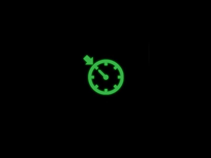Green - Cruise Control symbol