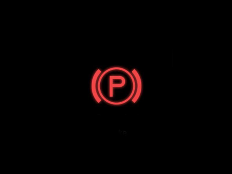 Red - Electronic parking brake symbol