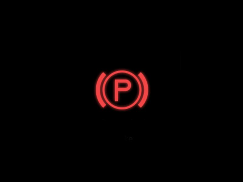Red - Electronic parking brake symbol