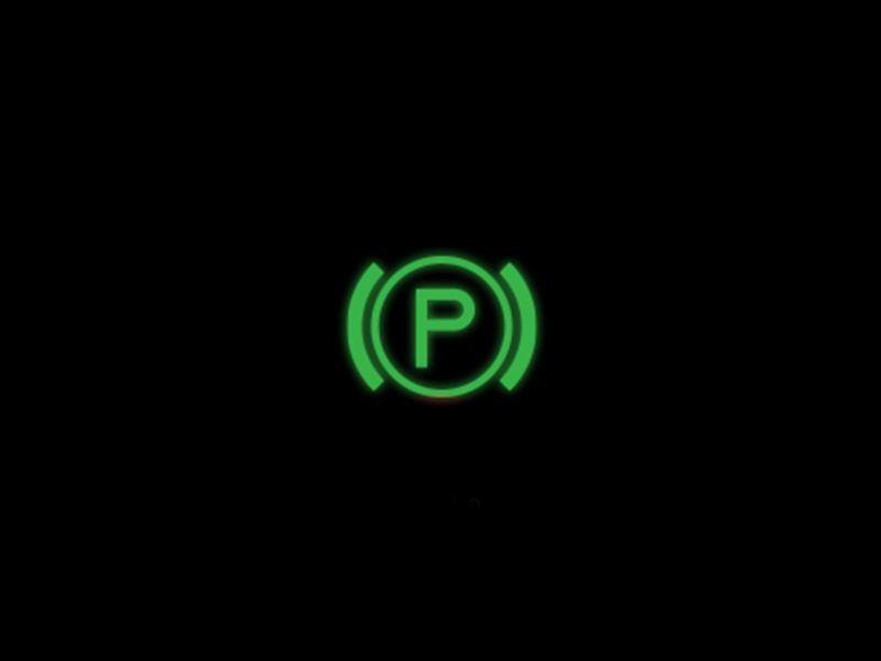 Green - Electronic parking brake symbol