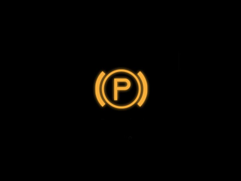 Yellow - Electronic parking brake symbol