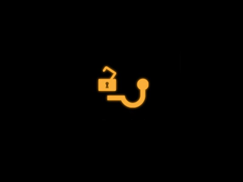 Yellow - Towing hitch symbol