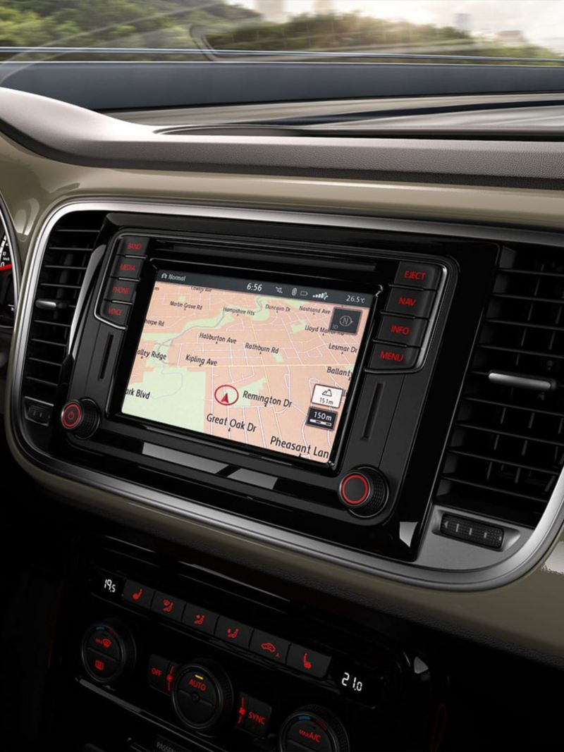Satellite navigation touchscreen in the Beetle
