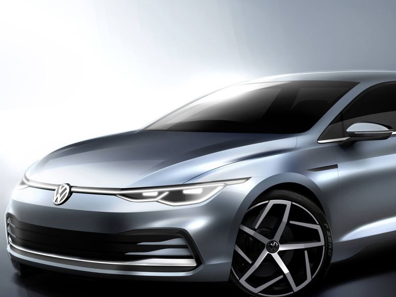 The new Volkswagen Golf 8