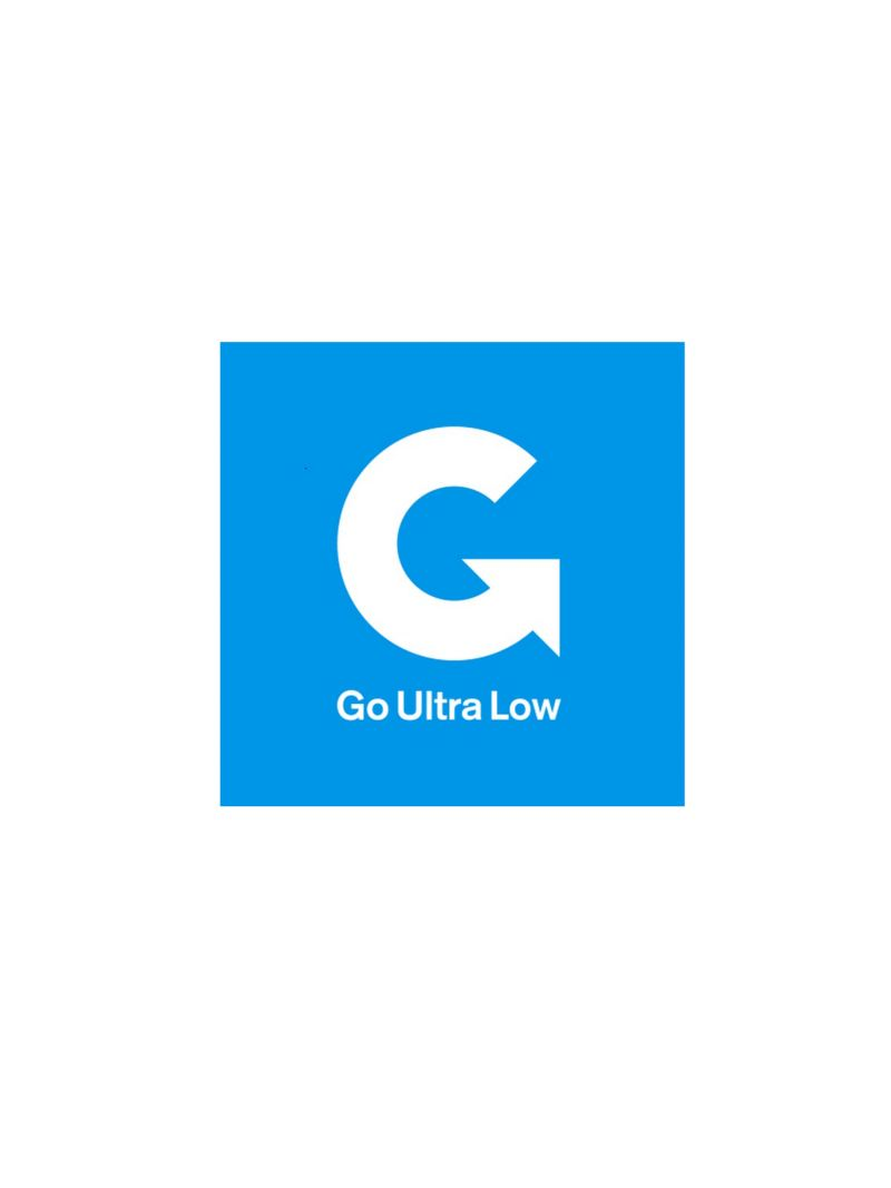 Blue go ultra low logo.