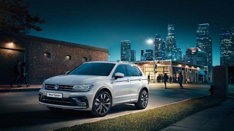 vw tiguan exterior left hand side view