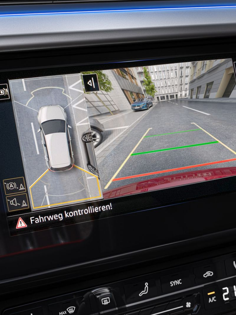 all-around view infotainment system screen