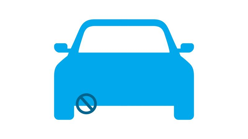 Diagram showing how the e-golf doesn't produce emissions