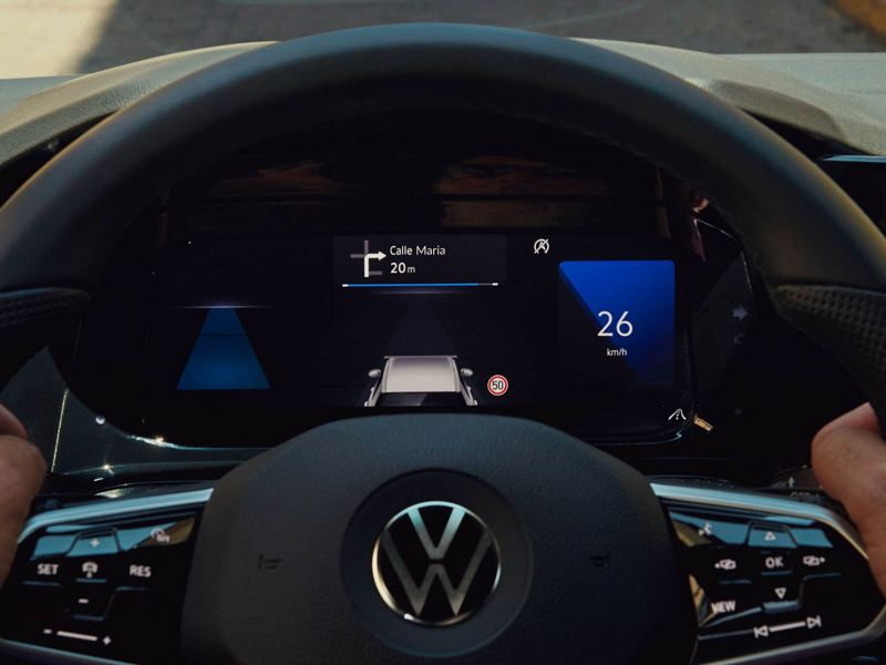 The dashboard of the new Volkswagen Golf 8