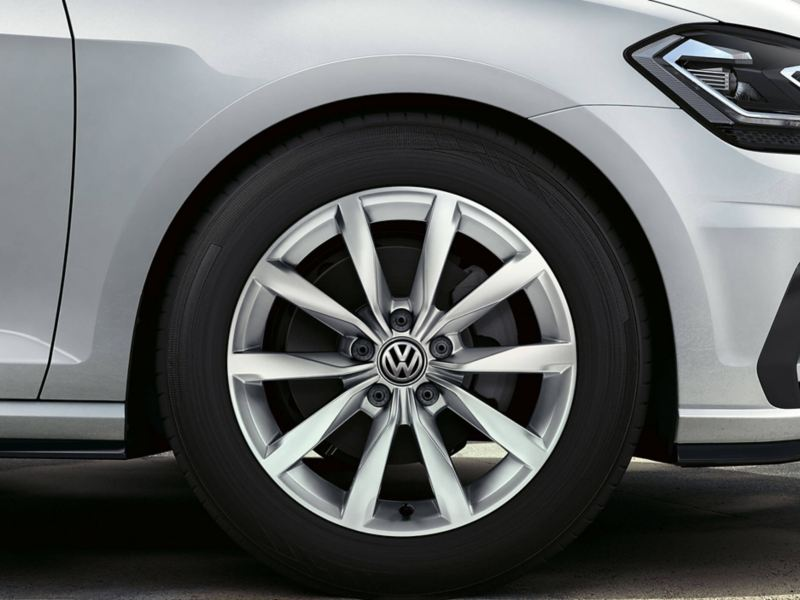 Alloy wheel shot of a Volkswagen Golf Estate.