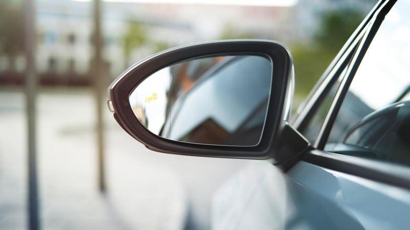 wing-mirror of a Volkswagen Golf Estate R.