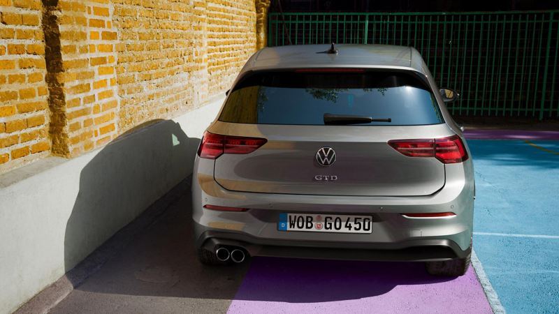 VW Golf GTD backside