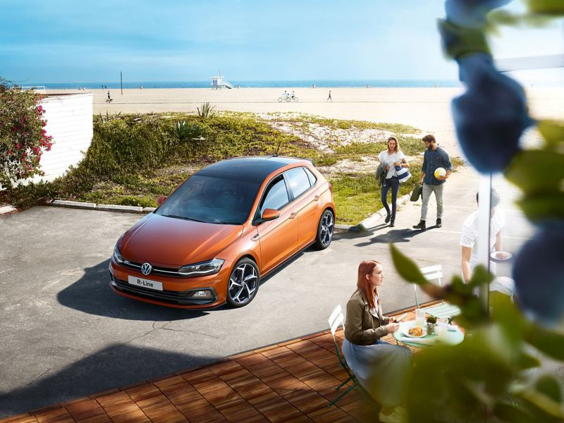 Volkswagen Polo by the beach