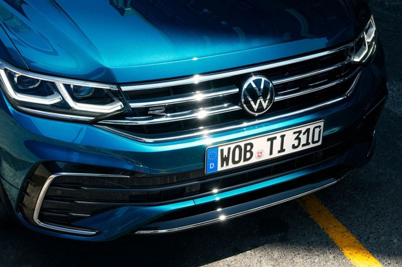 The grille of the new Volkswagen Tiguan