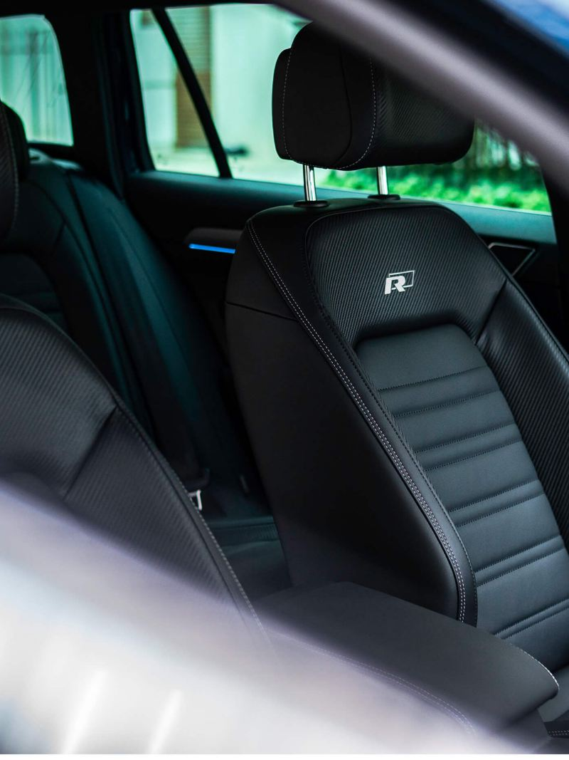 Interior shot of a Volkswagen Passat seats.