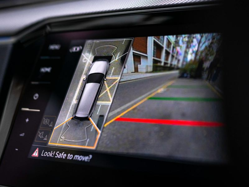 Park assist being displayed within the Passat Estate