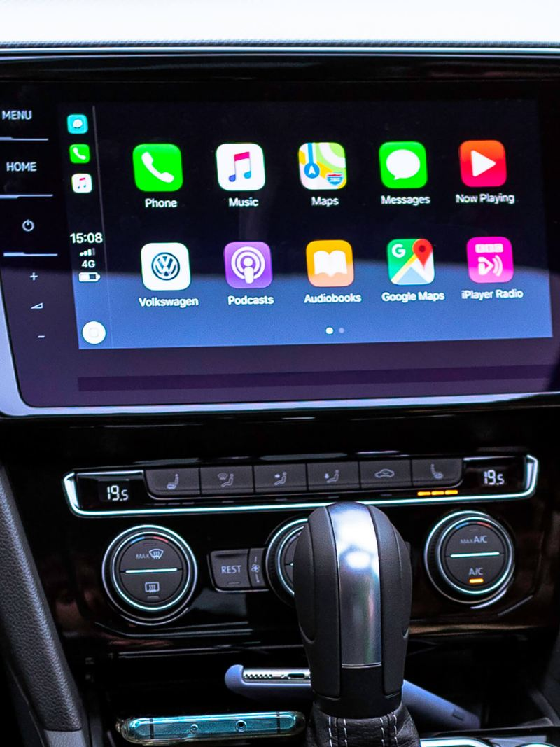 Infotainment system within the Passat Estate