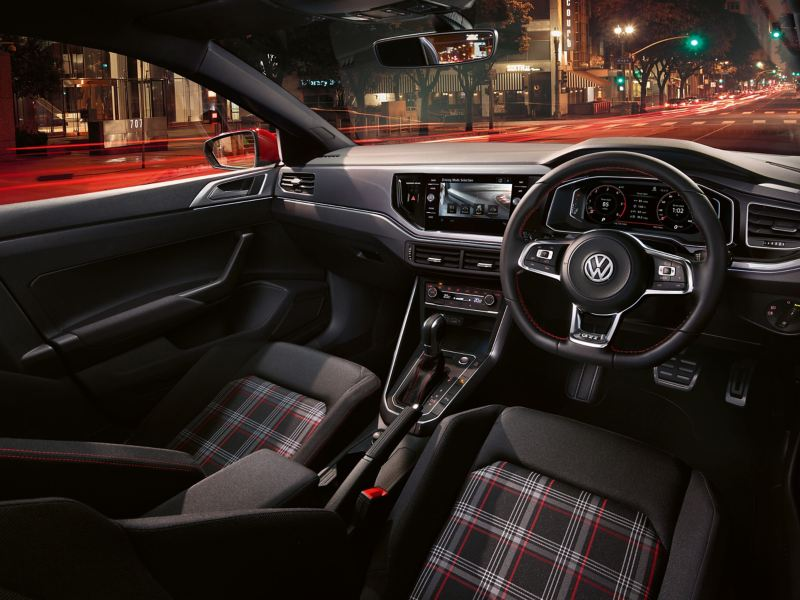 Interior shot of the Volkswagen Polo GTI