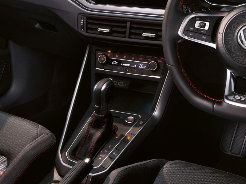 Interior shot of the Volkswagen Polo GTI