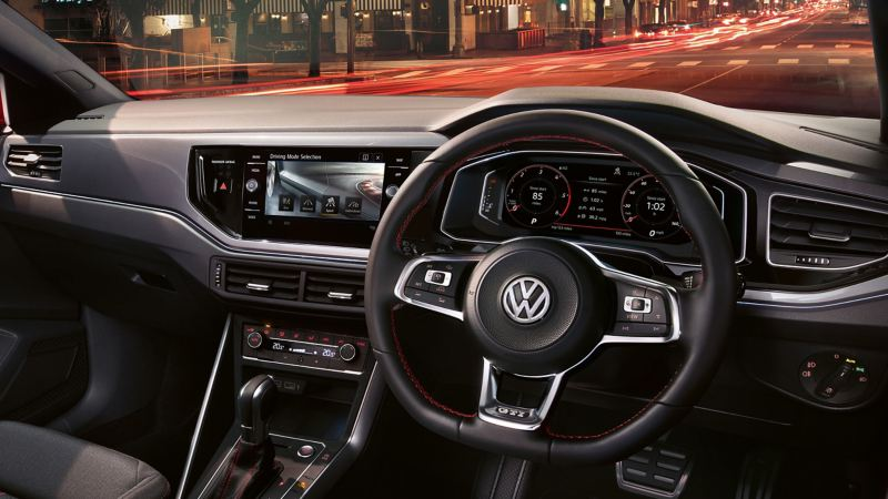 Volkswagen Polo GTI steering wheel and dashboard