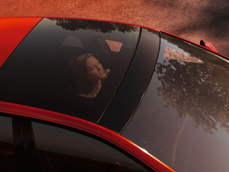 Shot of the Volkswagen Polo GTI sunroof