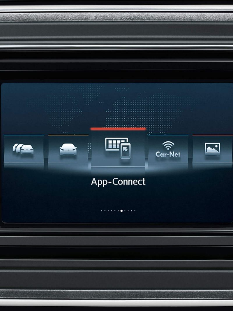 The Car-Net App Connect showing on the touchscreen.