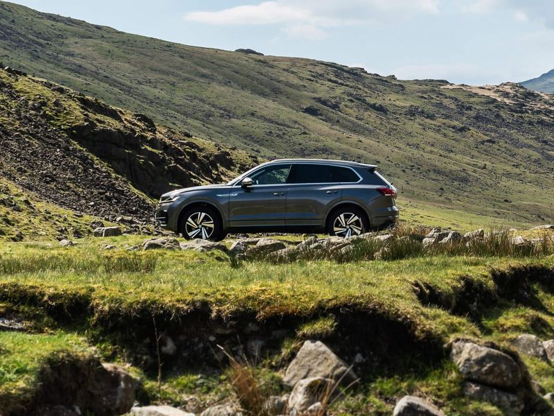 A Volkswagen Touareg in the countryside
